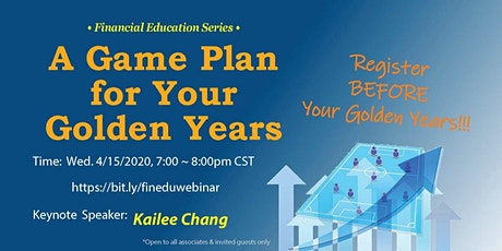 A Game Plan for your Golden Years 2020(Webinar) tickets