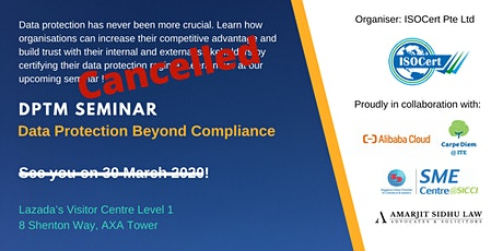 DPTM Seminar - Data Protection Beyond Compliance tickets