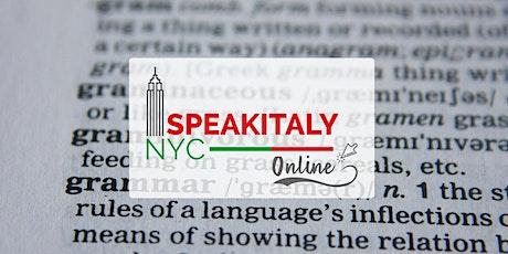 (A2/B2) Italian Grammar Review, Thursday 6-7PM tickets