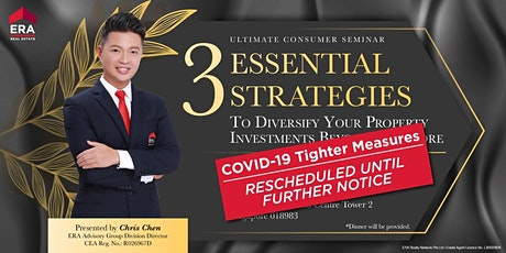 [RESCHEDULED] 3 Strategies to Diversify your Property Investments Beyond SG tickets