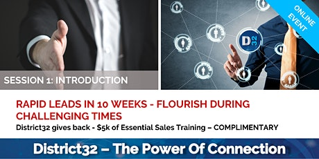 District32 From the Ground Up Sales Training - Introduction - Fri 03rd Apr tickets