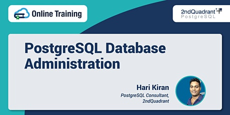 Online Training: PostgreSQL Database Administration tickets