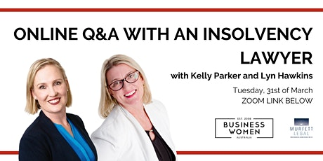 Online, Q&A with an Insolvency Lawyer tickets