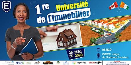 1ère UNIVERSITE DE L'IMMOBILIER tickets