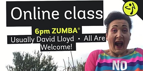 Weds 6pm Zumba at David Lloyd - online for now! tickets