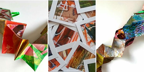 Gelli plate printing with Golden OPEN acrylics..and what to do with them! tickets