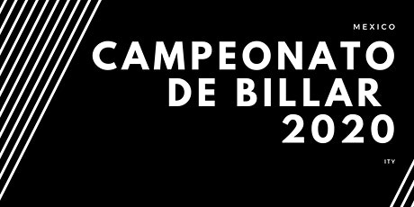 CAMPEONATO DE BILLAR boletos