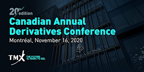 Canadian Annual Derivatives Conference 2020 billets