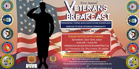 Veteran's Breakfast for Middlesex County tickets