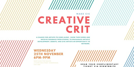 Creative Crit #2 tickets
