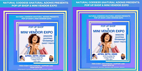Natural Goddess & Natural Adonis  Pop Up Shop and Mini Vendor Expo tickets