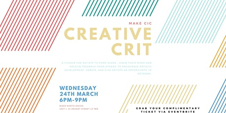 Creative Crit #3 tickets