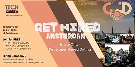 Get Hired Amsterdam Autumn 2020 tickets