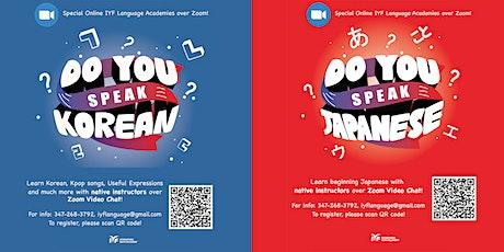 IYF Korean and Japanese Language Academies tickets