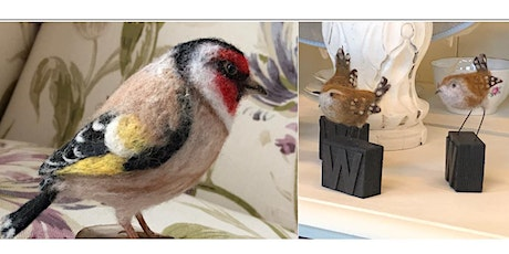 NEEDLE FELTED GOLDFINCH OR WREN tickets