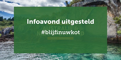 UITGESTELD - Infoavond Australië/N-Zeeland  in Antwerpen-individuele reizen tickets