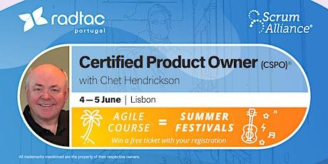 Certified Scrum Product Owner® bilhetes