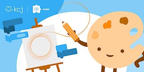 On dessine! - atelier en ligne sur l'art & le codage (CodeTaCommunauté) billets