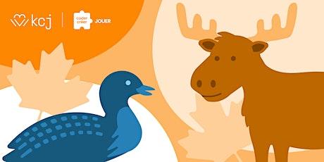 [FR]Animaux canadiens | Atelier en ligne nature & codage (CodeTaCommunauté) billets