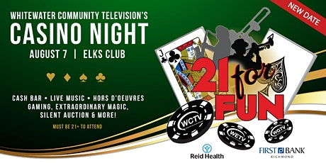 WCTV's 21 for Fun Casino Night tickets