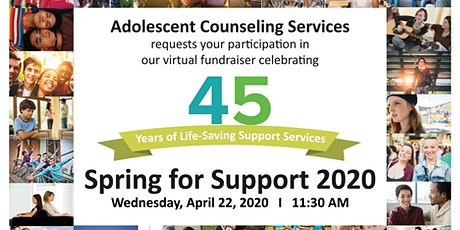Spring for Support 2020: ACS' Virtual Fundraiser tickets