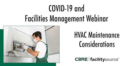 COVID-19 and FM Webinar | HVAC Maintenance Considerations billets