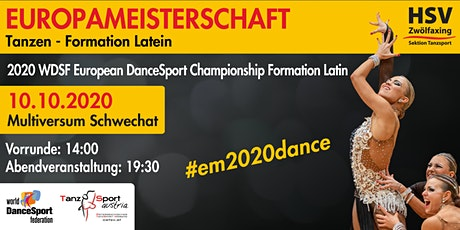 2020 WDSF European DanceSport Championship Formation Latin tickets