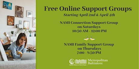 NAMI Connection Support Group - Online Meeting tickets