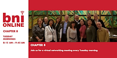 BNI Chapter 8 - Virtual Networking  tickets