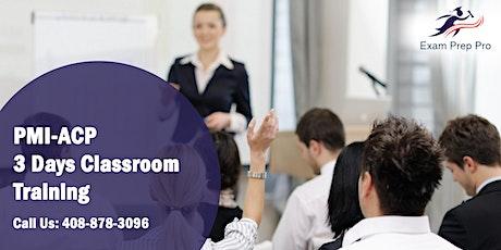 PMI-ACP 3 Days Classroom Training in Edison,NJ tickets