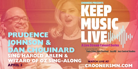 Get Happy! Prudence Johnson and Dan Chouinard sing Harold Arlen tickets