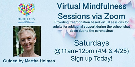 Mindful Kids Miami - Virtual Mindfulness Sessions with Martha tickets