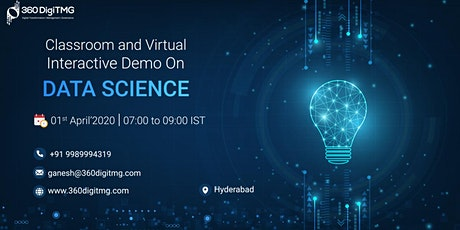 Classroom and Virtual Interactive Demo on Data Sciencce tickets