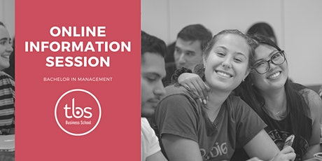 ONLINE INFORMATION SESSION: TBS BACHELOR IN MANAGEMENT tickets