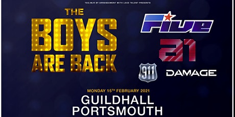 The boys are back! 5ive/A1/Damage/911 (Guildhall, Portsmouth) tickets