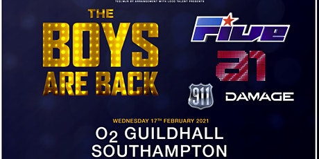 The boys are back! 5ive/A1/Damage/911 (O2 Guildhall, Southampton) tickets