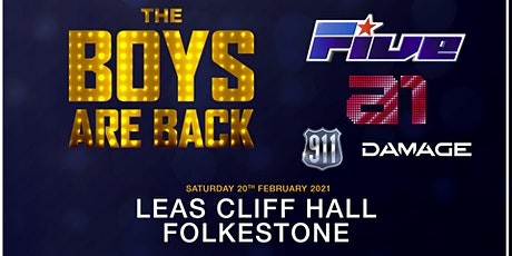 The boys are back! 5ive/A1/Damage/911 (Leas Cliff Hall, Folkestone) billets
