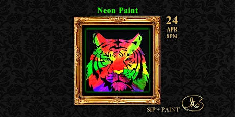 Sip and Paint (Neon Paint): Neon Tiger tickets