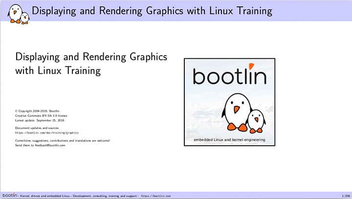 Bootlin Displaying and rendering graphics with Linux Training Seminar image