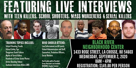 Profiling Teen Killers, School Shooters, Mass Murderers and Serial Killers by Phil Chalmers-LaCrosse, Wisconsin-Sept. 2, 2020 tickets