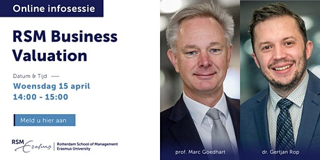 Online informatiesessie RSM Business Valuation - 15 april 2020 tickets