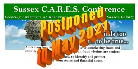 2020 Sussex C.A.R.E.S. Conference , with Lunch; Admission FREE, 5/8/2020 tickets