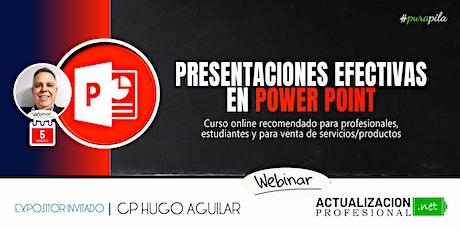 GRABACION: Presentaciones Efectivas en POWER POINT boletos