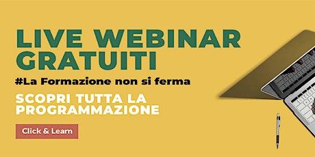 """Live Webinar - """"EVENTI, DA FISICI A DIGITALI, UN OPZIONE NON RIMANDABILE"""" entradas"""