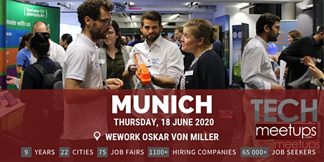 Munich Tech Job Fair Summer 2020 by Techmeetups Tickets