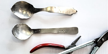 Pewter spoon making. tickets