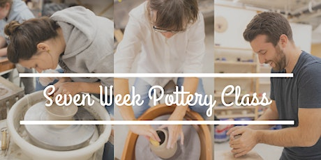 Wheel Throwing Pottery Class: ALL 7 week CLASSES LISTED HERE (July-August)  Tues, Thurs, Sat & Sun tickets