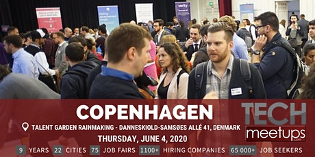 Copenhagen Tech Job Fair Spring 2020 By Techmeetups biljetter