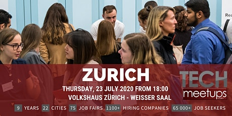 Zurich Tech Job Fair Spring 2020 by Techmeetups tickets
