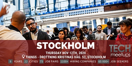Stockholm Tech Job Fair 2020 By Techmeetups tickets